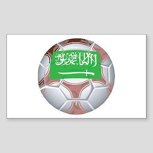 Saudi Arabia Football Rectangle Sticker