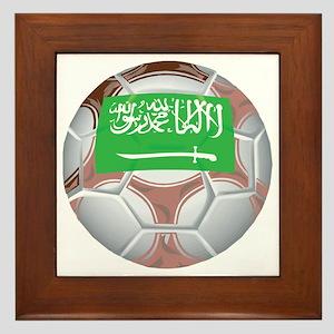 Saudi Arabia Football Framed Tile