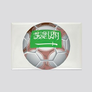 Saudi Arabia Football Rectangle Magnet