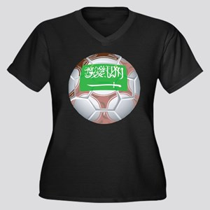 Saudi Arabia Football Women's Plus Size V-Neck Dar