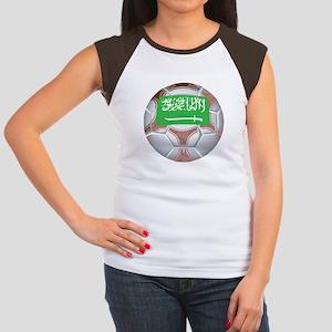 Saudi Arabia Football Women's Cap Sleeve T-Shirt