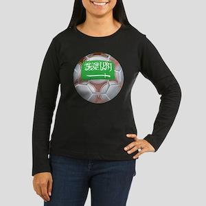 Saudi Arabia Football Women's Long Sleeve Dark T-S