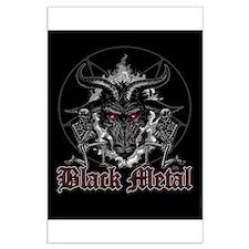 Black Metal Baphomet Pentagram Large Poster