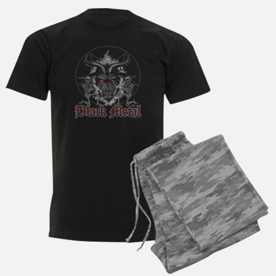 Black Metal Baphomet Pentagram Pajamas