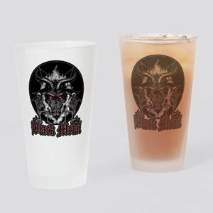 Black Metal Baphomet Pentagram Drinking Glass