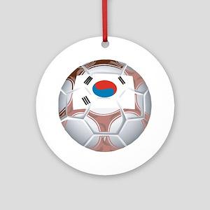 South Korea Football Ornament (Round)
