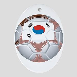 South Korea Football Oval Ornament