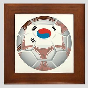 South Korea Football Framed Tile