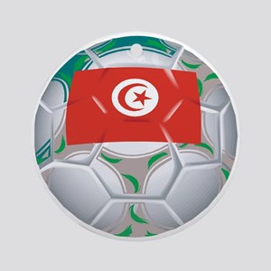 Tunisia Football Ornament (Round)