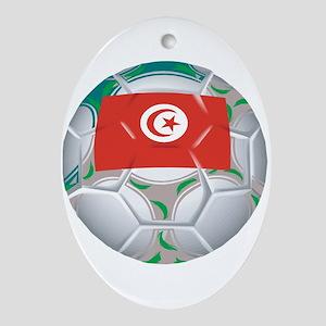 Tunisia Football Oval Ornament