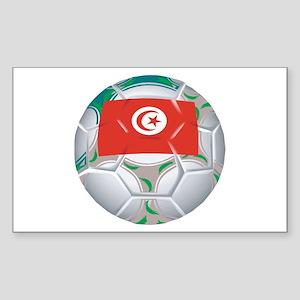 Tunisia Football Rectangle Sticker