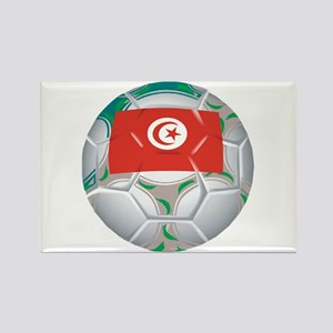 Tunisia Football Rectangle Magnet