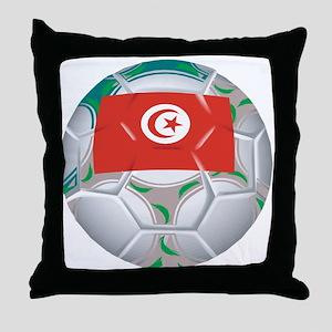Tunisia Football Throw Pillow