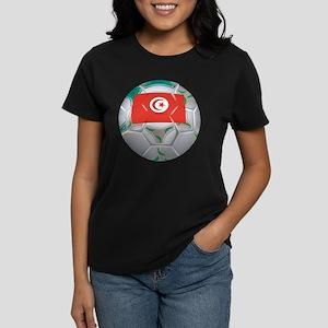 Tunisia Football Women's Dark T-Shirt
