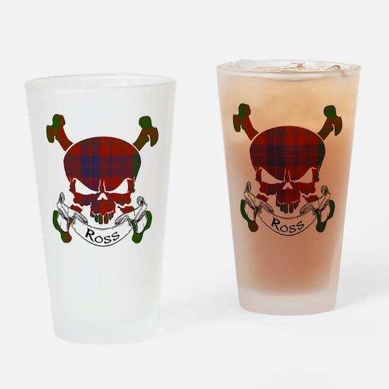 Ross Tartan Skull Drinking Glass