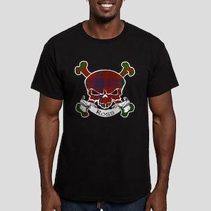 Ross Tartan Skull Men's Fitted T-Shirt (dark)