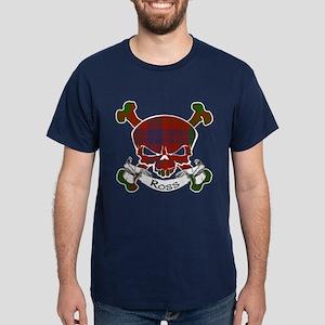 Ross Tartan Skull Dark T-Shirt