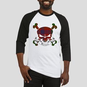 Ross Tartan Skull Baseball Jersey