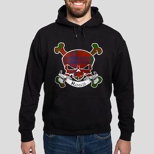 Ross Tartan Skull Hoodie (dark)