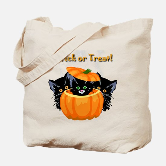 Halloween Trick or Treat Black Cats Tote Bag