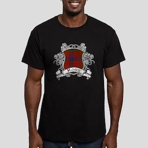 Ross Tartan Shield Men's Fitted T-Shirt (dark)