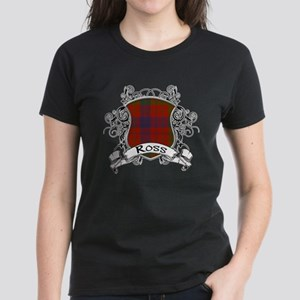 Ross Tartan Shield Women's Dark T-Shirt