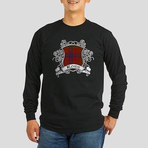 Ross Tartan Shield Long Sleeve Dark T-Shirt