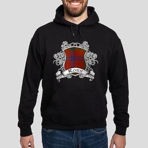 Ross Tartan Shield Hoodie (dark)