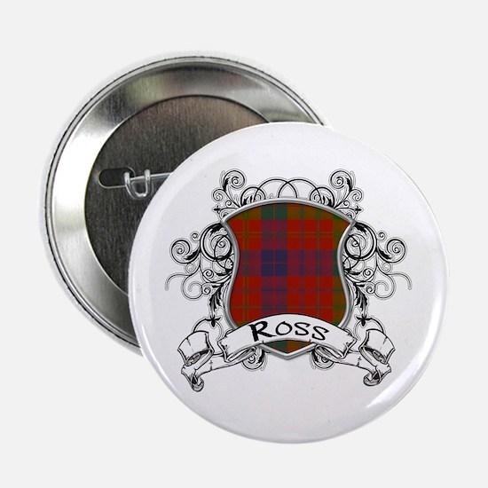 """Ross Tartan Shield 2.25"""" Button"""