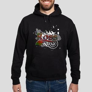 Ross Tartan Grunge Hoodie (dark)