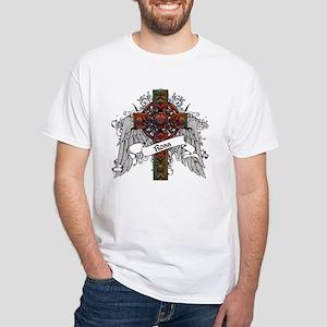 Ross Tartan Cross White T-Shirt
