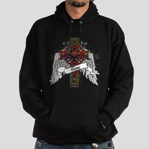 Ross Tartan Cross Hoodie (dark)