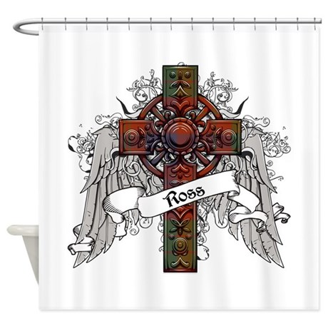 Ross Tartan Cross Shower Curtain