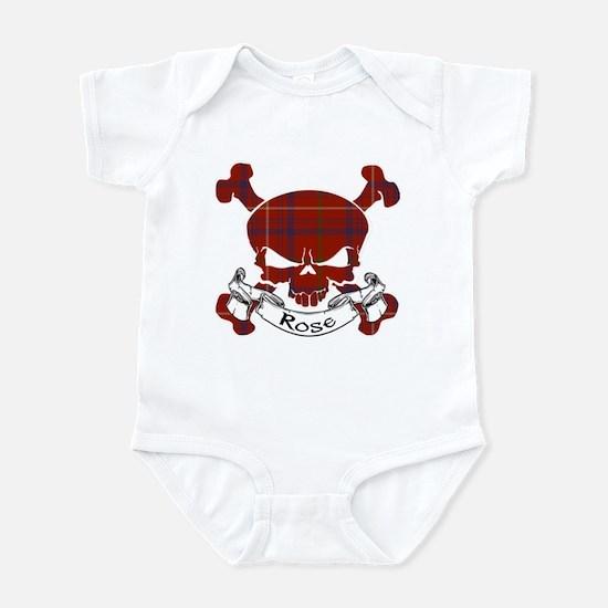Rose Tartan Skull Infant Bodysuit