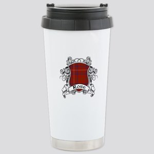 Rose Tartan Shield Stainless Steel Travel Mug