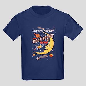 Moon Rocket Ride (vintage) Kids Dark T-Shirt