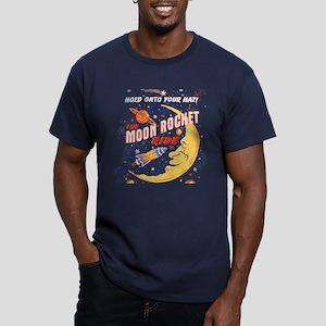 Moon Rocket Ride (vint Men's Fitted T-Shirt (dark)