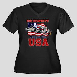 E-2C Hawkeye Women's Plus Size V-Neck Dark T-Shirt