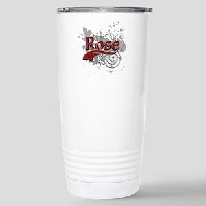 Rose Tartan Grunge Stainless Steel Travel Mug