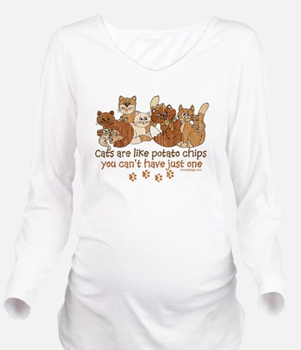 Unique Brown designs Long Sleeve Maternity T-Shirt