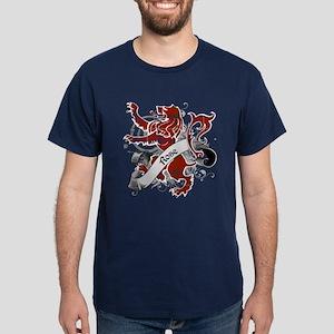 Rose Tartan Lion Dark T-Shirt