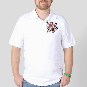Rose Tartan Lion Golf Shirt