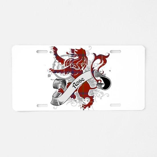 Rose Tartan Lion Aluminum License Plate