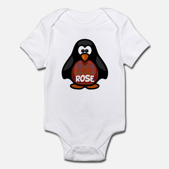 Rose Tartan Penguin Infant Bodysuit