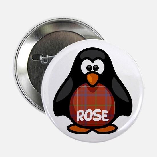 "Rose Tartan Penguin 2.25"" Button"