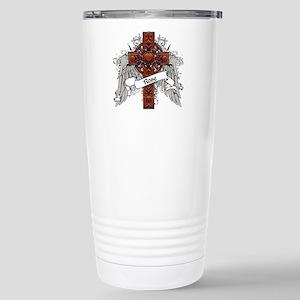 Rose Tartan Cross Stainless Steel Travel Mug