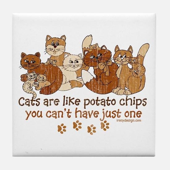 Unique Potato chips Tile Coaster