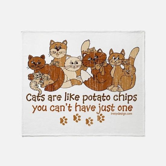 Cute Cat lovers Throw Blanket