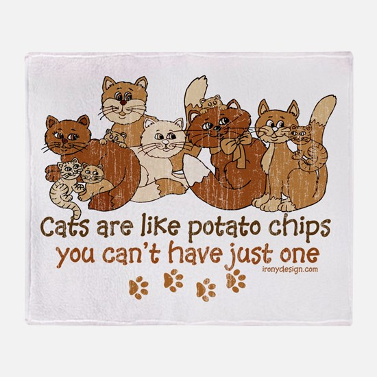 Cute Cat designs Throw Blanket