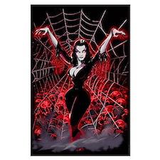 Vampira Spider Web Gothic Large Poster